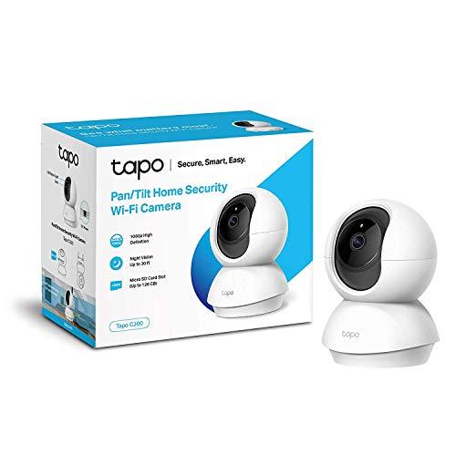 TP-Link TAPO C200 - Cámara IP WiFi 360°, Cámara de Vigilancia FHD 1080p, Visión...