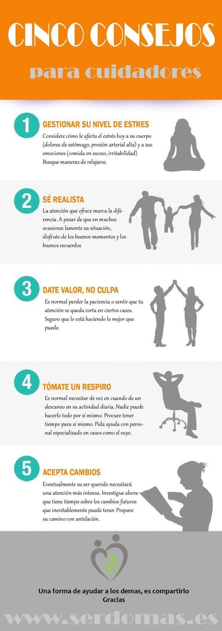 Cinco consejos para cuidadores